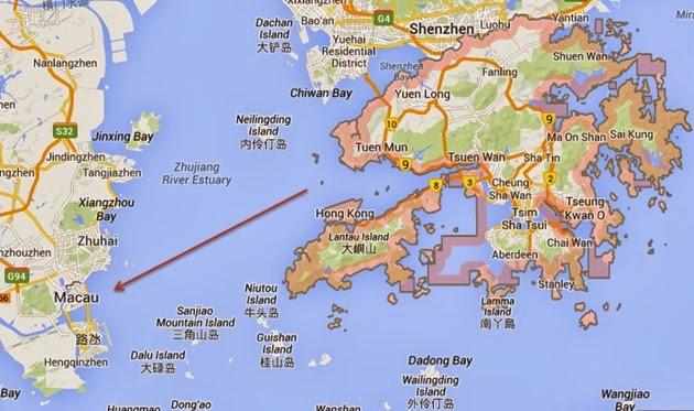 HK Macau Map